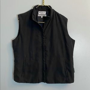 💋 Columbia Zippered Vest Black Large